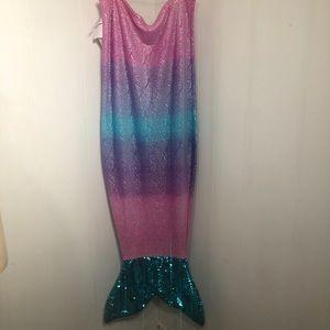 """Mermaid Sleeping Bag. Bonus Sequins Bag. 57"""" long"""